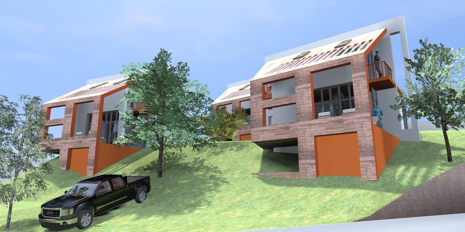 Wonderful disenos de casas en terrenos inclinados - Terreno con casa ...